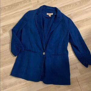 Bright Blue Michael Kors Linen Blazer